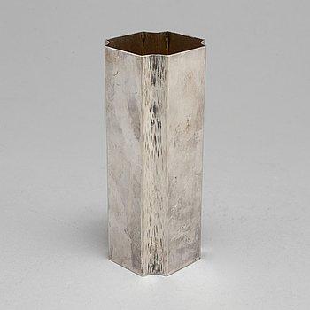 A Swedish 20th century parcel-gilt vase, mark of Jan Lundgren, Stockholm 1979.