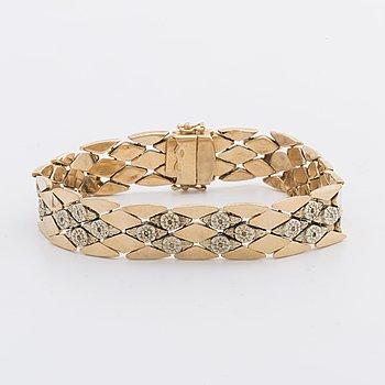 An 18 Carat gold bracelet ca 25,8 gr.
