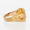 "A bjÖrn weckstrÖm ring,""polyfemos"", 14k gold, copper ore. lapponia 1973"