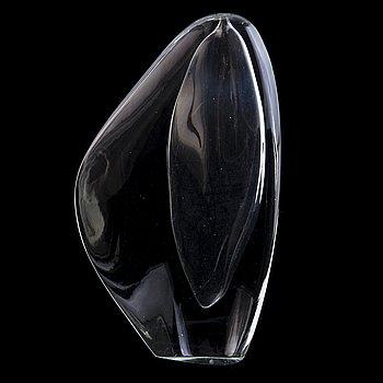 """TIMO SARPANEVA, glasskulptur, """"Lansett 1"""", signerad Timo Sarpaneva, Iittala."""