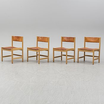 Four chairs model 575, by Børge Mogense, AB Karl Andersson & söner Värnamo, Sweden.