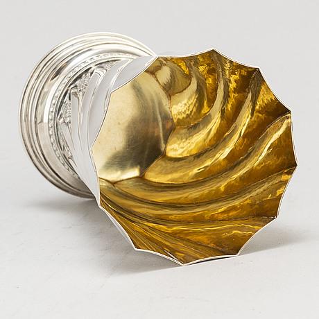 Atelier borgila, a parcel gilt sterling silver vase from stockholm, 1949
