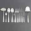 Jacob Ängman, a 73-piece silver cutlery service 'rosenholm' from gab, 1969-89.