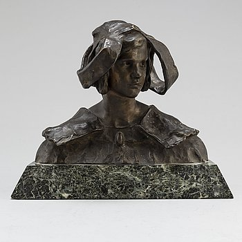 RUTH MILLES, Sculpture, bronze, signed, foundry mark. Total height 24 cm.