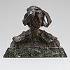 Ruth milles, skulptur, brons, signerad, gjutarstämpel. total höjd 24 cm