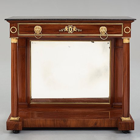 Console desserte, in the manner of bernard molitor (1755–1833), france, empire, beginning of the 19th century.