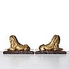 A pair of 18th century sculptures, probably italy.