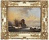 Dutch artist 19th century, unsigned. panel 29.5 x 38.5 cm.