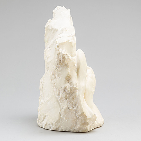 Francesco romanelli, alabaster, signed. marble, height 35 cm.