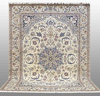 A CARPET, Nain part silk, so called 9 LAA, ca  320 x 203 cm.