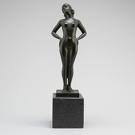 Carin nilson, sculpture, bronze. signed and with foundry mark. h: 39 cm.