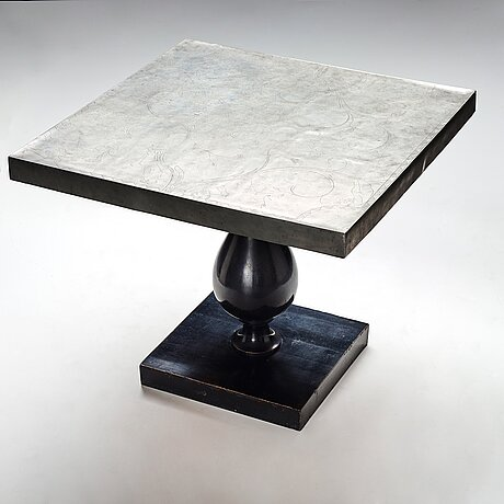 Tyra lundgren, & uno Åhrén, a pewter top sofa table for svenskt tenn, stockholm 1928-29, model 743, provenance estrid ericson.