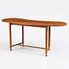 Josef frank, a mahogany extendable side table, model 1133, svenskt tenn, sweden, mid 20th century, provenance estrid ericson.