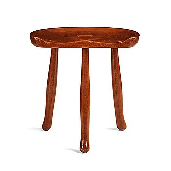 "285. Josef Frank, a ""Nil""/""Nile"" mahogany stool, model 1003, for Svenskt Tenn, Sweden, probably 1940's, provenance Estrid Ericson."