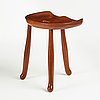 "Josef frank, a ""nil""/""nile"" mahogany stool, model 1003, for svenskt tenn, sweden, probably 1940's, provenance estrid ericson."
