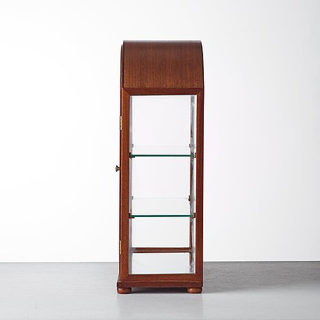 Josef frank, a mahogany table showcase cabinet, svenskt tenn, model 2070, provenance estrid ericson.