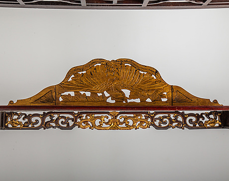 A large chinese bed, partly qing dynasty.
