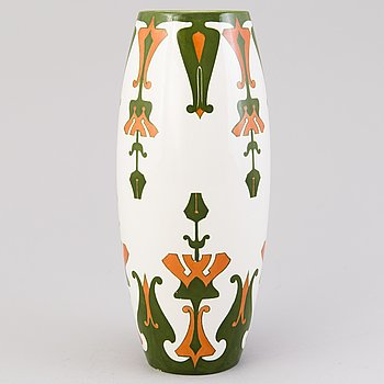 A 1900-1917 ceramic vase for Arabia, Finland.