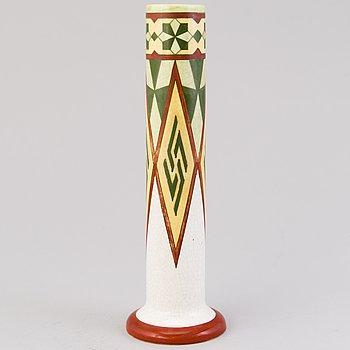 A 1900-1917 ceramic 'Fennia' vase for Arabia, Finland.