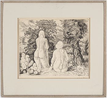 EDUARD WIIRALT, etching, signed and signed and dated 1934 in the plate, e.a.