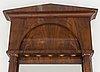 A first half of the 19th century mahogany veneered mirror.