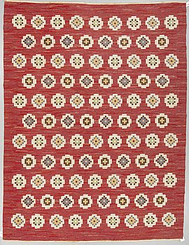 MATTA, rölakan, ca 304,5 x 226,5 cm, Sverige omkring 1940-1950.