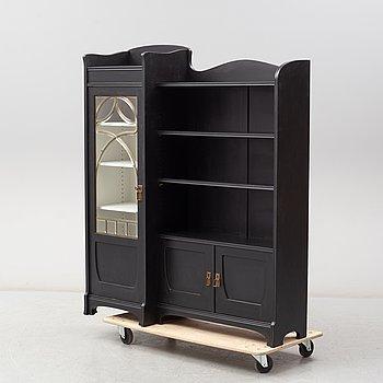 An Art Nouveau bookcase, eraly 20th Century.