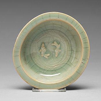 SKÅL, porslin. Yuan/Mingdynastin.