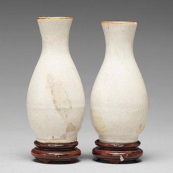 VASER, ett par, porslin. Mingdynastin, 1600-tal.