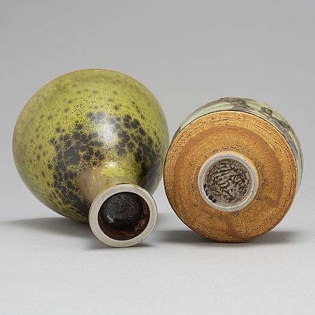 Carl-harry stålhane, a unique bowl and vase, rörstrand.