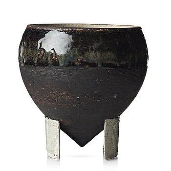 93. Carl-Harry Stålhane, a unique stoneware jar, Rörstrand, Sweden 1960's.