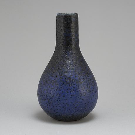 Carl-harry stålhane, a unique stoneware vase, rörstrand 1966.