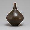 Carl-harry stålhane, a unique stoneware vase, rörstrand 1952.