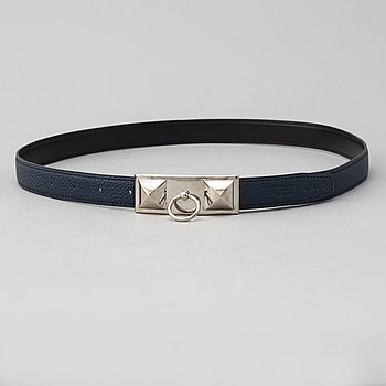 HERMÈS, a 'Collier de Chien' reversible leather belt, 2008. Size 90.