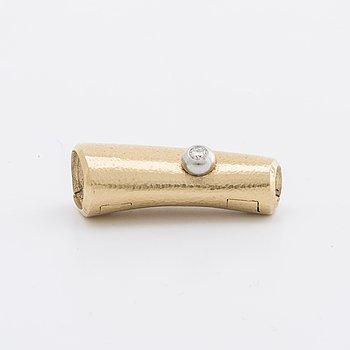 LYNGGAARD COLLIERLÅS för 1 rad 18K guld m 1 briljant ca 0.10 ct, 12,2 g.