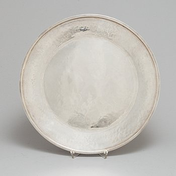 REY URBAN, a sterling silver dish, Stockholm 1966.