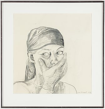 LENA CRONQVIST, pencil on paper, signed Lena Cronqvist and dated 1983.