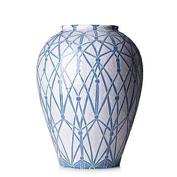 50. Gunnar Wennerberg, an Art Nouveau creamware floor vase, Gustafsberg, Sweden 1904.