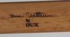 """Stol, """"eva"""", bruno mathsson för dux, brännmärkt."""