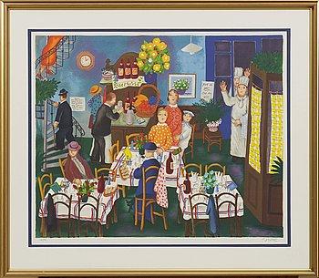 LENNART JIRLOW, färglitografi, signerad och numrerad 269/1999.