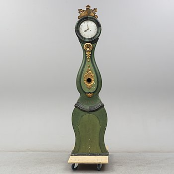 A Swedish late 18th or early 19th century longcase clock.