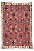 """Märta måås-fjetterström, matto, """"röda esset"""", flat weave, ca 369 x 347,5 cm, signed ab mmf."""