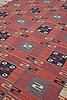 "Märta måås-fjetterström, a carpet, ""röda esset"", flat weave, ca 369 x 347,5 cm, signed ab mmf."