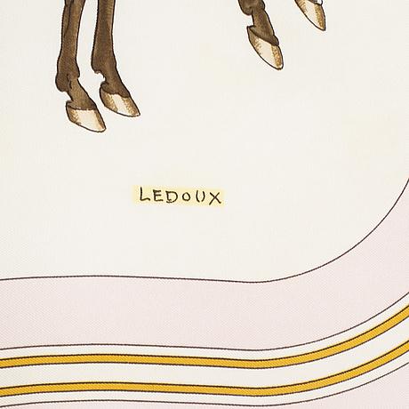 "HermÈs, scarf, ""coach & sadle"", philippe ledoux, original issue 1976."