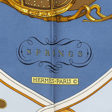 """HermÈs, scarf, """"springs"""", philippe le doux, 1981."""