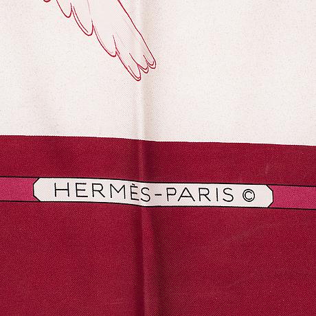 """HermÈs, scarf, """"oiseux migrateurs"""", cathy latham, 1980."""