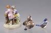 Figuriner, 3 st, porslin, dresden, bing & gröndahl, royal copenhagen.