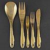 Gunnar cyrÉn, a part 'nobel' gilt steel fish cutlery, for yamazaki (38 pieces)