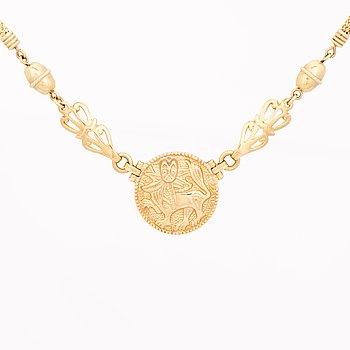 """A NECKLACE, """"Sun Lion"""", 18K gold. Kalevala Koru 1998."""