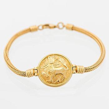 """A BRACELET, """"Sun lion"""", 18K gold. Kalevala Koru 1999."""